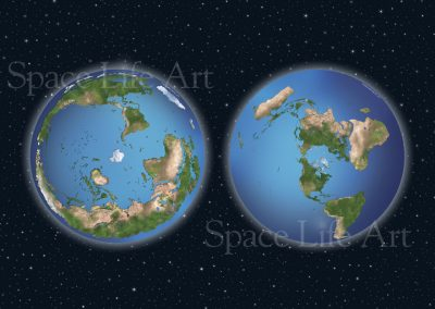 Both the South Pole and North Pole azimuthal projections