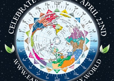 South Pole with Time Zones